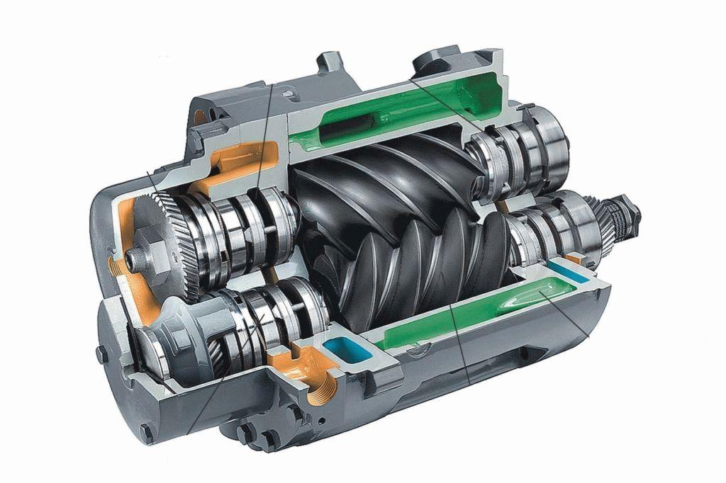 Винтовой компрессор устройство