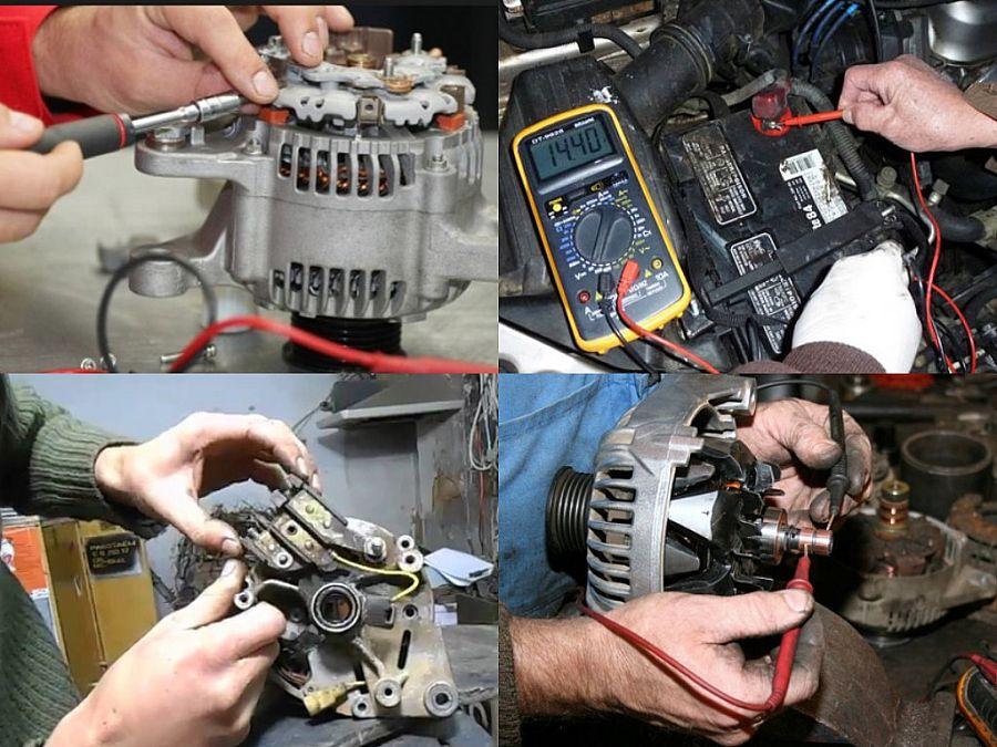 автомобильный электрогенератор неисправен